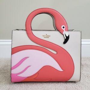 Kate Spade 'by the pool' Flamingo Sam Satchel, EUC